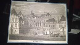 Affiche (gravure) -  Vue Du Château De LUNEVILLE - Afiches