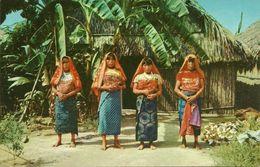 Republica De Panama, Indias De San Blas Con Sus Colorido Trajes, San Blas Indians In Their Colorful Dresses - Panama