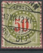 1734 - 50 Rp. Portomarke Wasserzeichenpapier Mit Sauberem Vollstempel LUZERN 13.VII.12 - Taxe