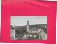 SANTHENAY LES BAINS - 21 - CPA COLORISEE - Place De La Mairie Et Eglise - BORD - - France