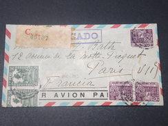PEROU - Enveloppe En Recommandé Pour La France En 1933 , Affranchissement Plaisant- L 11430 - Peru