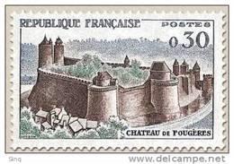 N° 1236 Château De Fougères  Faciale 0,30 F - Ungebraucht