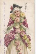 Nurnberg : Theo  Stroefer's Kunstverlag 1905  Aquarell-Postkarte Serie XXXIX (Madehen) N°7 - Unclassified