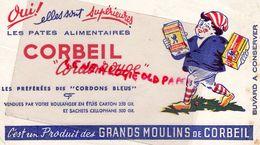 93- CORBEIL- BUVARD LES PATES ALIMENTAIRES CORBEIL CORDON ROUGE- BOULANGERIE BOULANGER-GRANDS MOULINS - Alimentaire