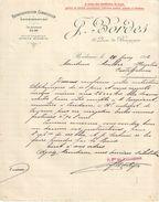 Lettre Commerciale Ancienne/ Représentation-Commission-Consignation/J. BORDES/Quai De Bourgogne/BORDEAUX/1912   FACT299 - Banca & Assicurazione