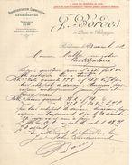 Lettre Commerciale Ancienne/ Représentation-Commission-Consignation/J. BORDES/Quai De Bourgogne/BORDEAUX/1912   FACT300 - Banca & Assicurazione