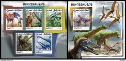 GUINEA BISSAU 2017 - Dinosaurs. M/S + S/S. Official Issue - Préhistoriques