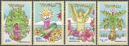 Tuvalu 1993 Religionen Christentum Weihnachten Christmas Noel Krippen Blumen Engel Kerzen, Mi. 674-7 ** - Tuvalu (fr. Elliceinseln)