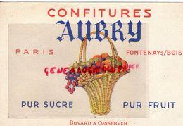 94- FONTENAY SOUS BOIS- BUVARD CONFITURES AUBRY- PARIS- CONFITURE -CONFITURERIE - Alimentaire
