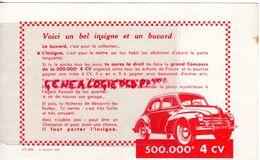 92- BILLANCOURT- BUVARD VOITURE -AUTO -AUTOMOBILE 4 CV RENAULT- - Automobile