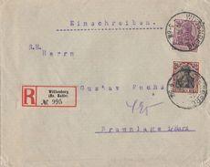 DR R-Brief Mif Minr.91II,92II KOS Wittenberg (Bz. Halle) 6.10.20 - Deutschland