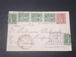 CHILI - Entier Postal + Complément De Santiago Pour Paris En 1899 - L 11440 - Chile