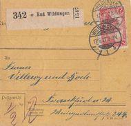 DR Paketkarte Mif Minr.A113,5x 154 Bad Wildungen 17.6.22 - Deutschland