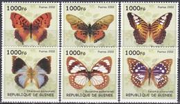 Guinea 2002 Tiere Fauna Animals Schmetterlinge Butterflies Insekten Insects, Mi. ??? ** - Guinea (1958-...)