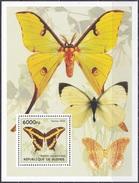 Guinea 2002 Tiere Fauna Animals Schmetterlinge Butterflies Insekten Insects, Bl. ??? ** - Guinea (1958-...)