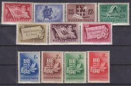 Hungary 1948. Centenary Nice Set MNH (**) Michel: 1000-1010 / 14 EUR - Hungary
