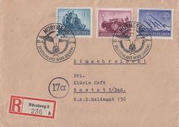 DR R-Brief Mif Minr.874,880,884 SST Nürnberg 20.4.44 - Briefe U. Dokumente