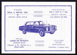Táxi Invoice/ Factura De Táxi - Táxis Rolo & Rocha, Vila Franca De Xira // Portugal 1976 - Portugal