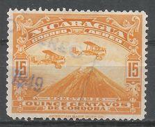 Nicaragua 1937. Scott #C164 (U) Airplanes Over Mt. Momotombo - Nicaragua