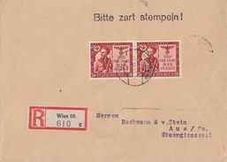 DR R-Brief Mef Minr.2x 863 Wien 7.12.43 - Briefe U. Dokumente