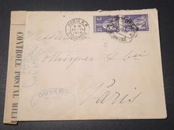 PORTUGAL - Enveloppe Pour Paris En 1916 Avec Contrôle Postal - L 11446 - 1910-... République