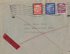 DR Orts-Eilbote Brief Mif Minr.520,551,553 Hamburg 4.12.34 - Briefe U. Dokumente