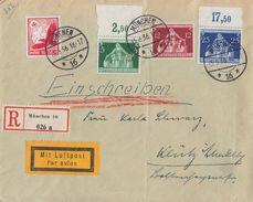 DR R-Brief Luftpost Mif Minr.530,618 OR, 619, 620 OR München 15.6.36 - Deutschland
