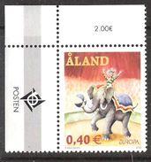 Aland 2002  Europa: Circus, Elephant, Clown, Mi 208 MNH(**) - Aland