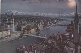 Zürich Mondscheinkarte (6537) * 12. 6. 1910 - ZH Zurich