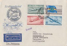 DDR Brief Luftpost Mif Minr.512-515 Erstflug Nach Warschau Ansehen !!!!!!!! - DDR