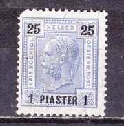 Austria- Levante-1900 1 Piastra  Su 25 H.   Nuovo MLH - Eastern Austria