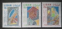 E11VP - Lebanon 1968 Mi. 1075-1077 Complete Set 3v. MNH - Centenary Of St Municipality, Deir El Kamar - Lebanon