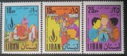 E11VP - Lebanon 1968 Mi. 1075-1077 Complete Set 3v. MNH - Human Rights - Lebanon