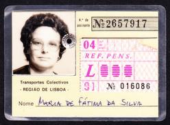 Portugal, PASSE 1991 - Transportes Colectivos . Região De Lisboa - Europe