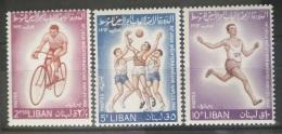 E11VP - Lebanon 1964 Mi. 833A-834A-835A MNH - Napoli Olympic Games - Lebanon