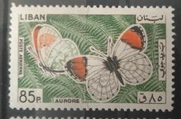 E11VP - Lebanon 1966 Mi. 905 MNH Stamp - Butterfly 85p - Lebanon
