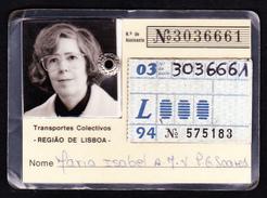 Portugal, PASSE 1994 - Transportes Colectivos . Região De Lisboa - Europe