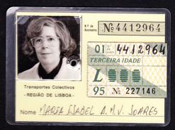 Portugal, PASSE 1995 - Transportes Colectivos . Região De Lisboa - Europe