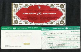 India Airline Transport Ticket Used Passenger Ticket With Boarding Pass - Transportation Tickets