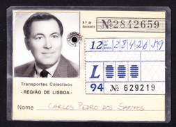 Portugal, PASSE 1994 - Transportes Colectivos Da Região De Lisboa - Europe