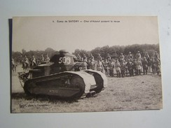 50 WW1 Camp De SATORY   Chars D Assaut Passant La Revue - Guerre 1914-18