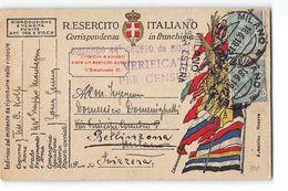 16153 COMANDO 44 GRUPPO DA MONTAGNA X BELLINZONA - VERIFICATO CENSURA - 1900-44 Victor Emmanuel III