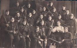 Fotokaart Carte Photo Fotokarte  Soldaat Soldat Militair Militaire Orkest Fanfare Harmonie Accordeon Fort De ... - Blegny
