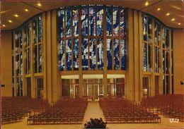 Grote Kaart Grand Format Koksijde OLV Vrouw Ter Duinenkerk Architect J. Lantsocht Glasramen Vitraux Glasspanes Glasrahme - Koksijde