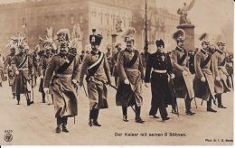 26641    Der Kaiser Mit Seinen 6 Sohnen - Guerre 1914-18
