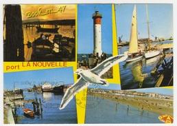 {37207} 11 Aude Port La Nouvelle , Multivues ; Ostréiculture à L' étang De Leucate , Phare , Port , Plage - Port La Nouvelle