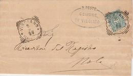 Visciano. 1898. Annullo Tondo Riquadrato VISCIANO (CASERTA) + Ovale COMUNE + Testo, Su Lettera - 1878-00 Humberto I