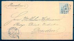 1889 , HOLANDA , SOBRE CIRCULADO ENTRE AMSTERDAM Y DRESDEN - 1852-1890 (Guillaume III)