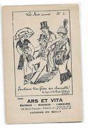 """""""  Ars   Et  Vita    -  Les  Airs  Connu    No  1  """" - Union  Artistique  De  Le  Rive  Gauche - Advertising"""