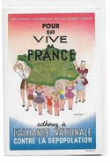 L,Alliance  Nationale   Contre  La  Dépopulation - Werbepostkarten